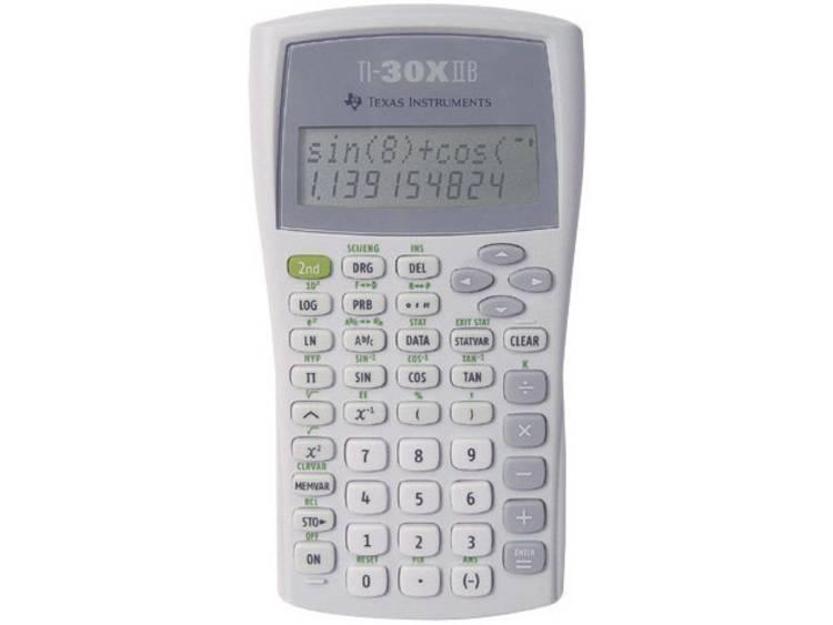 Schoolrekenmachine Texas Instruments TI-30 X IIB Zilver Aantal displayposities: 11 werkt op batterijen