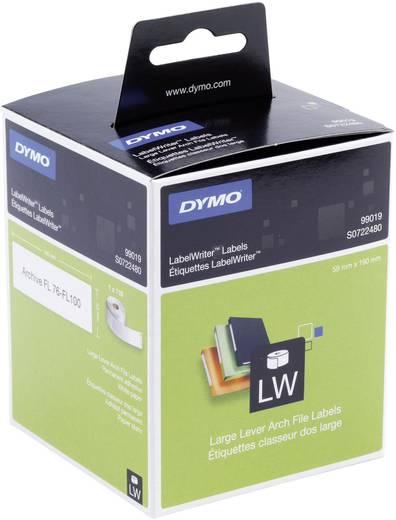 DYMO Etiketten (rol) 59 x 190 mm Papier Wit 110 stuks Permanent S0722480 Ordneretiketten