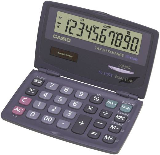 Belasting-/valutacalculator SL-210TE Casio SL-210TE Antraci
