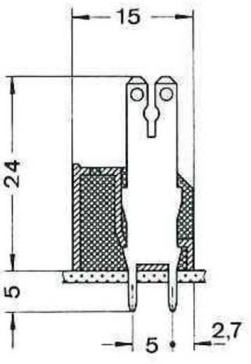 Phoenix Contact 1760336 Kabelschoen-splitter Insteekbreedte: 6.3 mm Insteekdikte: 0.8 mm 180 ° Deels geïsoleerd Groen 50 stuks