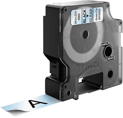 DYMO 45800 Labeltape Tapekleur: Transparant Tekstkleur:Zwart 19 mm 7 m