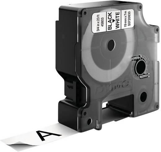 DYMO 45803 Labeltape Tapekleur: Wit Tekstkleur: Zwart 19 mm 7 m