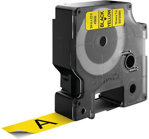 DYMO 45808 Labeltape Tapekleur: Geel Tekstkleur:Zwart 19 mm 7 m