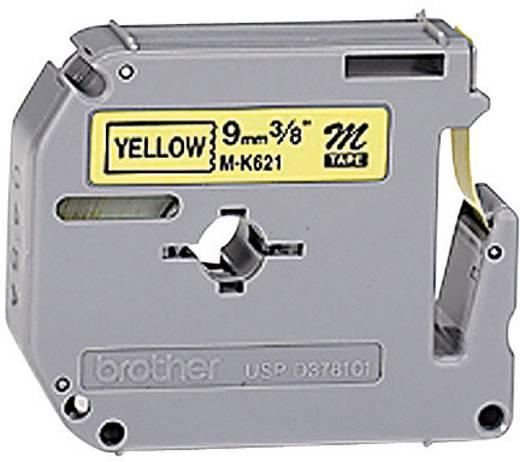 Brother M-K 621 Labeltape Tapekleur: Geel Tekstkleur: Zwart 9 mm 8 m