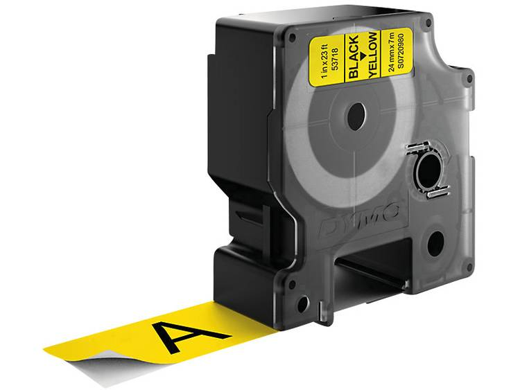 Labeltape DYMO D1 53718 Tapekleur: Geel Tekstkleur:Zwart 24 mm 7 m