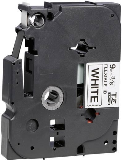 Brother TZe-FX221 Labeltape flexibel Tapekleur: Wit Tekstkleur: Zwart 9 mm 8 m
