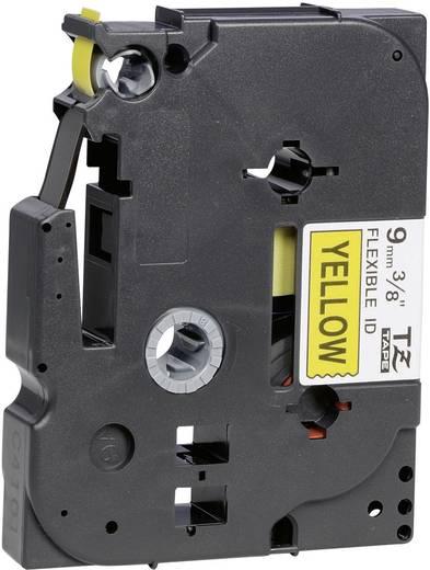 Brother TZe-FX621 Labeltape flexibel Tapekleur: Geel Tekstkleur: Zwart 9 mm 8 m