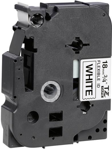 Brother TZe-FX241 Labeltape flexibel Tapekleur: Wit Tekstkleur: Zwart 18 mm 8 m
