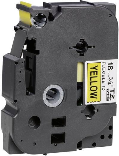 Brother TZe-FX641 Labeltape flexibel Tapekleur: Geel Tekstkleur: Zwart 18 mm 8 m