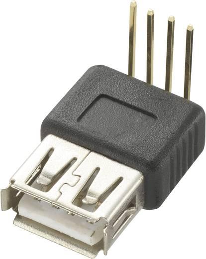 USB-aansluitstekker printmontage USB-bus type A, 90° Bus, haaks 1 stuks