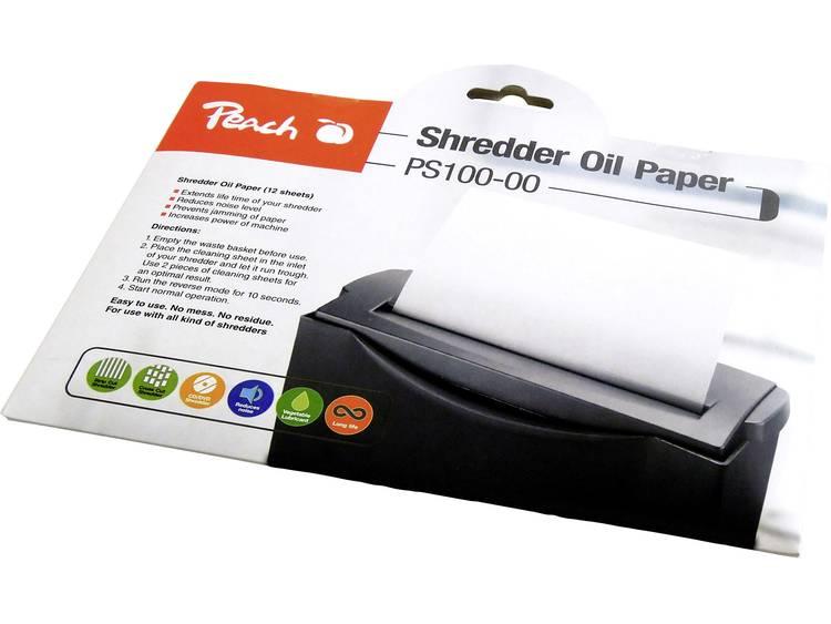 Oliepapier voor papierversnipperaar Peach PS100-00 12 vellen