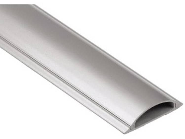 Hama kabelgoot,halfrond, 100-7cm zilver