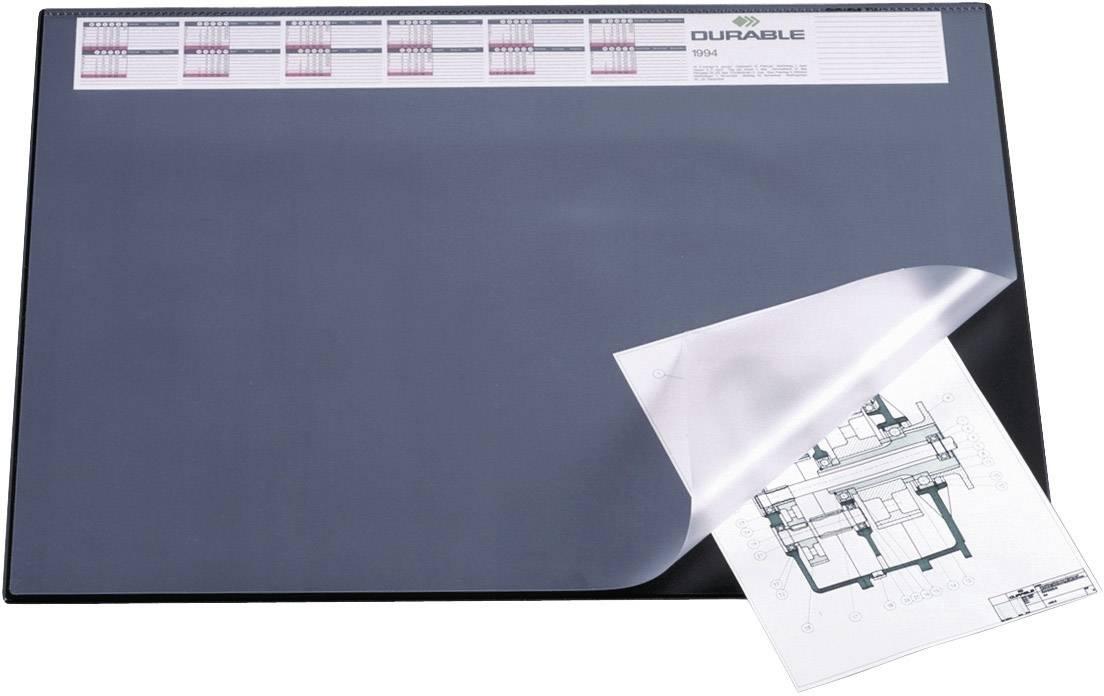 durable 720401 bureau onderlegger zwart (b x h) 650 mm x 520 mm