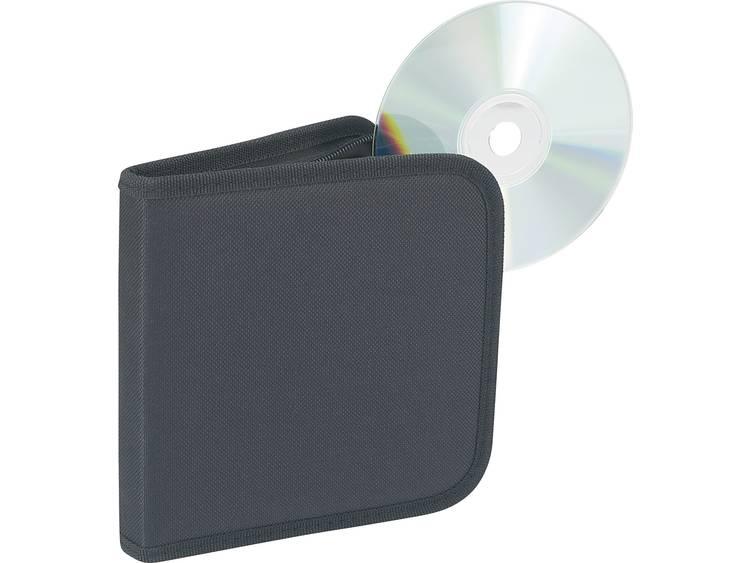 CD-hoes van nylon voor 12 CD´s, zwart