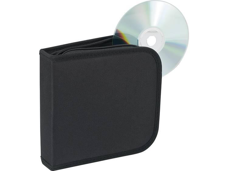 Renkforce CD-opbergtas voor 28 CDs Zwart 28 CDs/DVDs (b x h x d) 158 x 40 x 160 mm