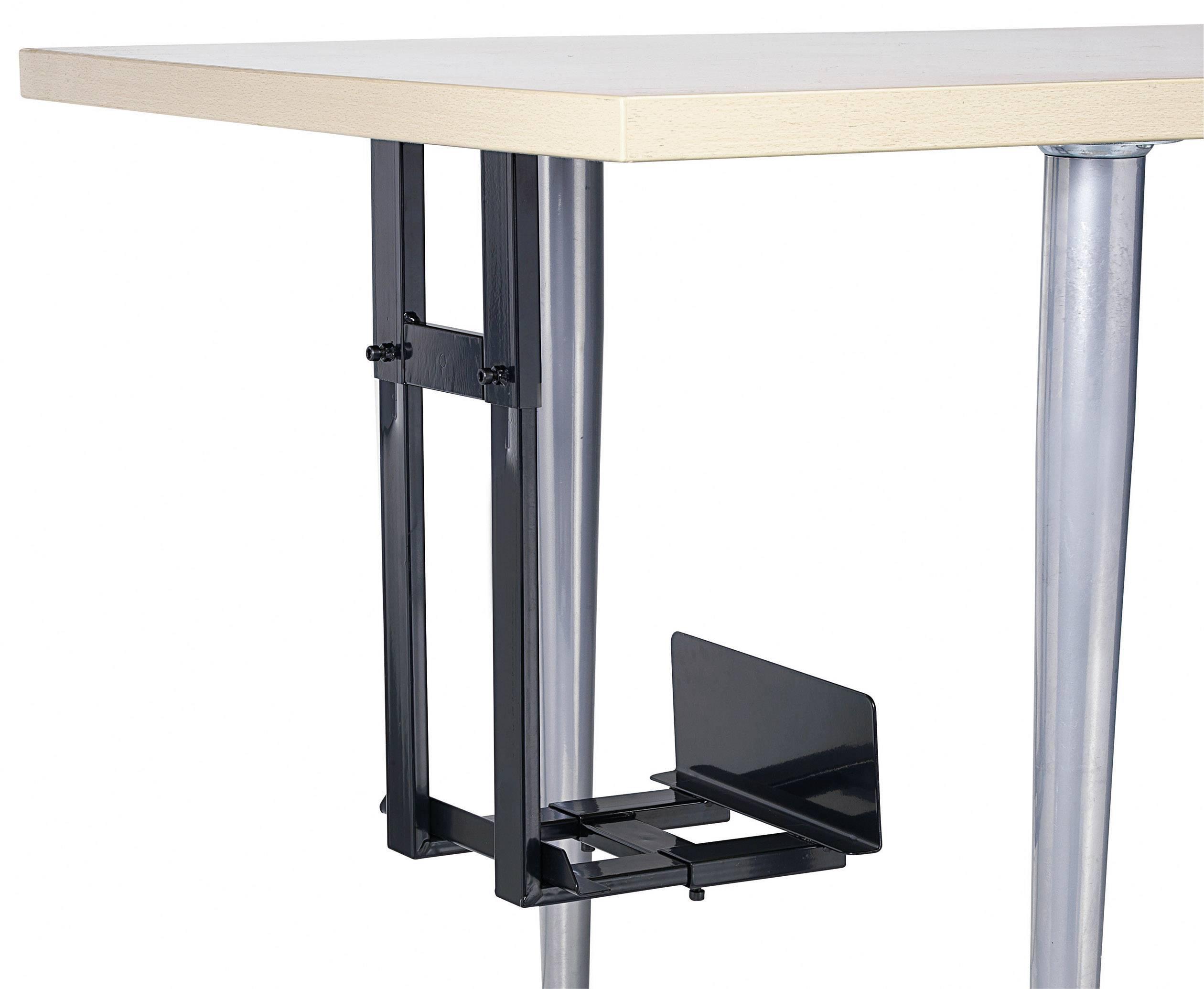 Pc houder voor montage onder het bureau zwart conrad