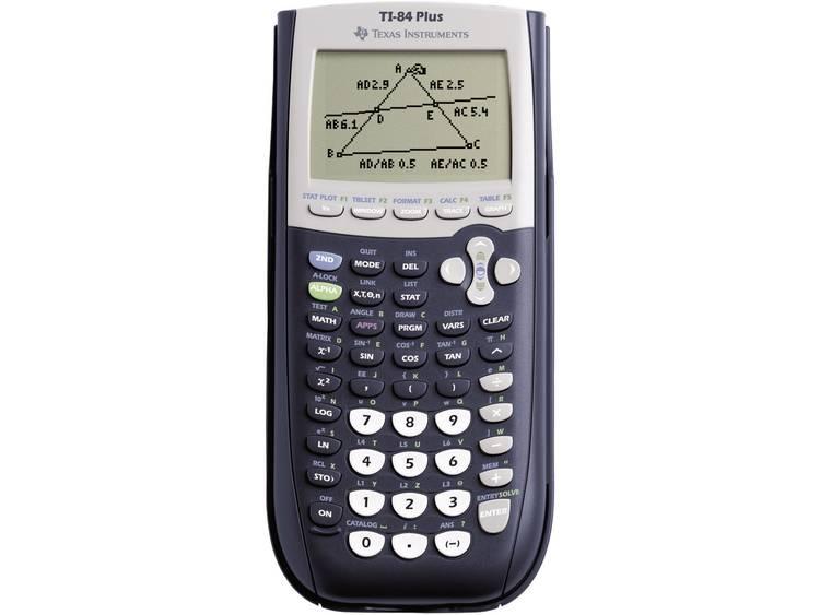 Grafische rekenmachine Texas Instruments TI-84 PLUS Zwart, Grijs werkt op batterijen