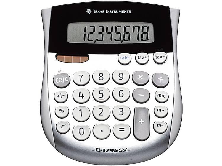 Zakrekenmachine Texas Instruments TI-1795 SV Zilver Aantal displayposities: 8 werkt op zonne-energie, werkt op batterijen