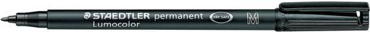 Staedtler 317-9 Permanent marker Lumocolor Zwart Ronde vorm 1 mm (max) 1 stuks
