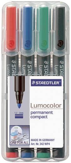 Universele stift Lumocolor permanent, F, set van 4, zwart