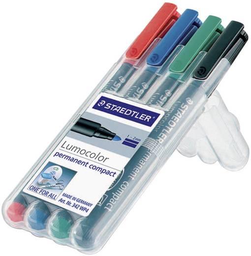 Staedtler 318-9WP4HZ Permanent marker Lumocolor Zwart Ronde vorm 0.6 mm (max) 4 stuks