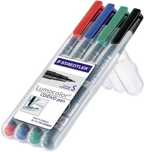 Staedtler 310 CDSWP4 marker Rood, Blauw, Groen, Zwart 4 stuks