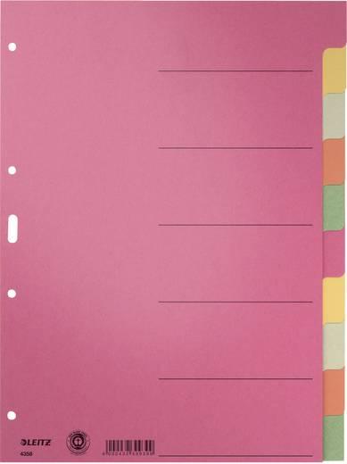 Register Leitz 43580000 DIN A4 Gekleurd 6 vel Roze, Geel, Grijs, Oranje, Groen 1 katernen