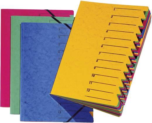 Bureaumap 12-tabs geel