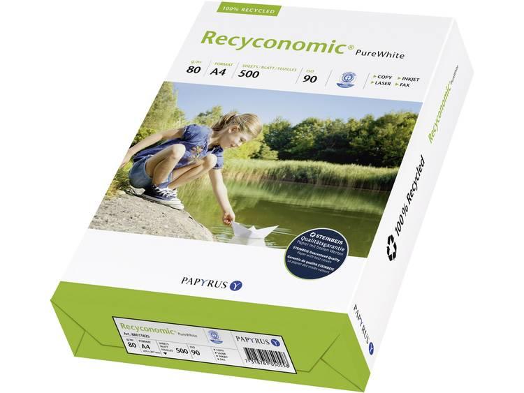 Papyrus Recyconomic 90 Gerecycled printpapier DIN A4 80 g/m² 500 vellen Wit