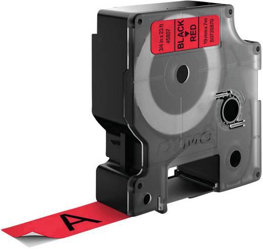 DYMO 45807 Labeltape Tapekleur: Rood Tekstkleur:Zwart 19 mm 7 m