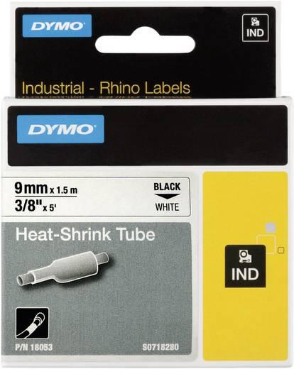 DYMO 18053 Labeltape krimpkous Polyolefine Tapekleur: Wit Tekstkleur:Zwart 9 mm 1.5 m