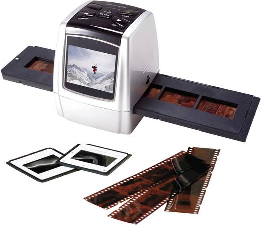 imax IM0710 Diascanner, Negatiefscanner 1800 dpi Display, Geheugenkaartlezer, Werkt ook op batterij, Digitalisering zon