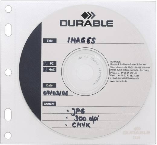 Durable CD/DVD-hulzen voor ringbanden, set van 10 5239-19 T