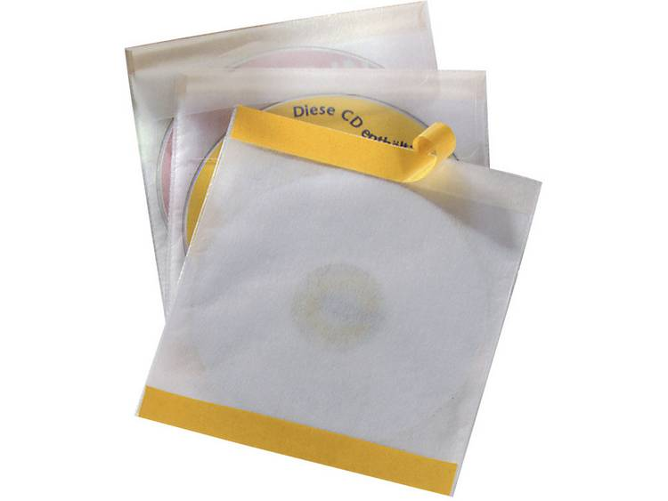 Durable CD/DVD-hoezen zelfklevend, set van 10 stuks 5210-19 Transparant 1 CD/DVD