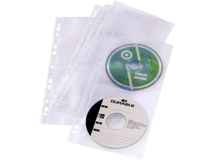 Durable CD/DVD-hulzen voor ringbanden, set van 5 5282-19 Transparant 4 CDs/DVDs