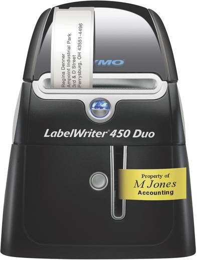 DYMO LabelWriter 450 Duo Labelprinter Thermisch 300 x 600 dpi Etikettenbreedte (max.): 56 mm USB