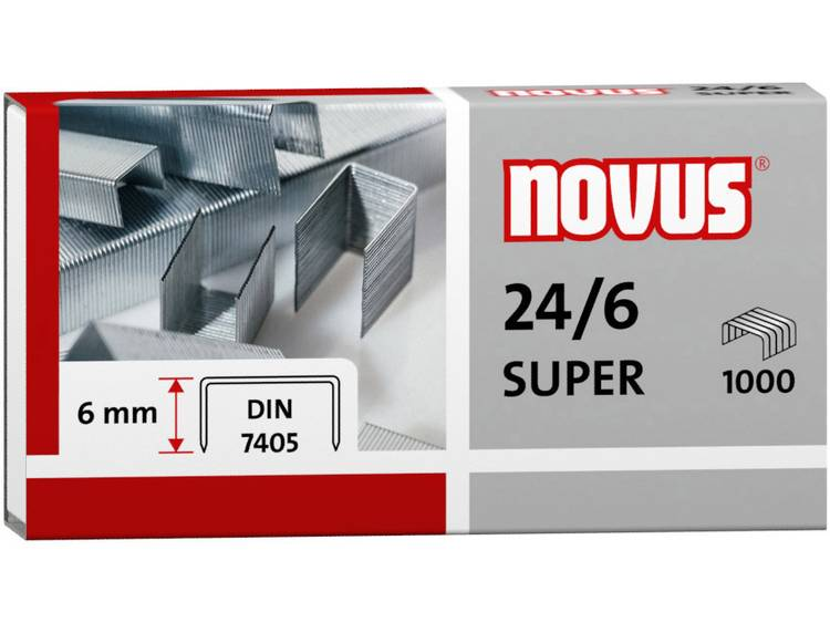 Novus 24/6 SUPER 1 pack 1.000 stuks/pak Heftcapaciteit: 30 vel 040-0158