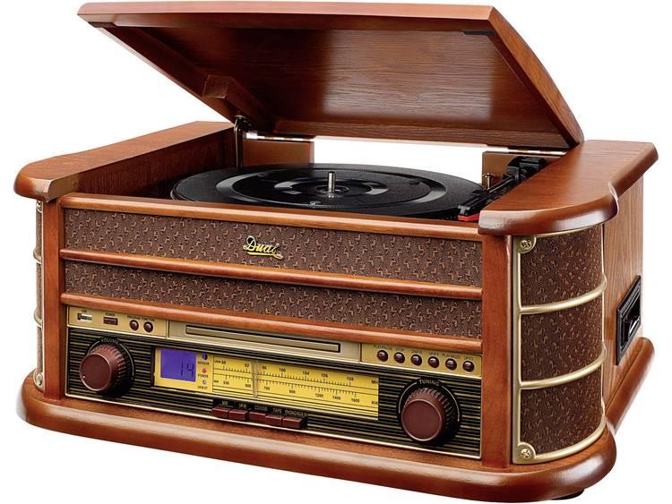 Dual NR 4, Tafelradio, FM, Middengolf, CD-speler, cassette, USB, platenspeler, Hout