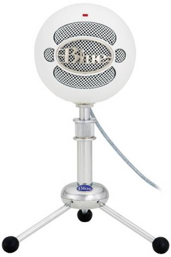 Blue Microphones Snowball White USB-microfoon USB-studiomicrofoon Kabelgebonden Incl. kabel, Voet