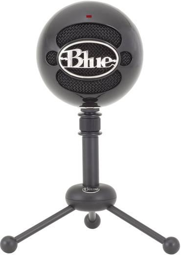 Blue Microphones Snowball Gloss Black USB-microfoon USB-studiomicrofoon Kabelgebonden Voet, Incl. kabel