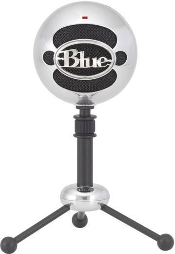 Blue Microphones Snowball Brushed aluminium USB-studiomicrofoon Kabelgebonden Incl. kabel, Voet