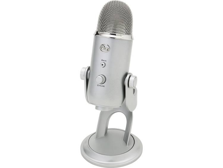 PC-microfoon Blue Microphones Yeti Zilver Kabelgebonden Voet