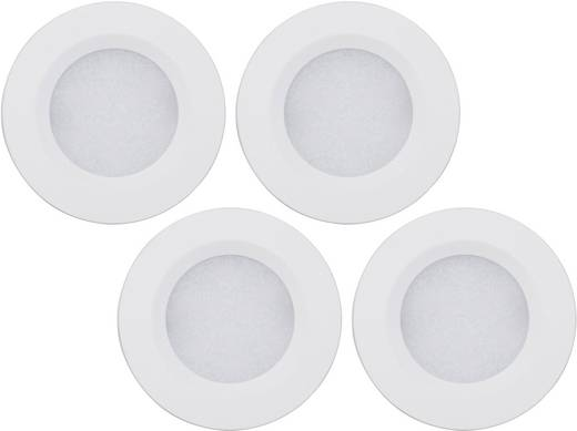 LED-opbouwlamp werkt op het lichtnet 7 W Warm-wit Zilver Müller Licht 57007 Set van 4