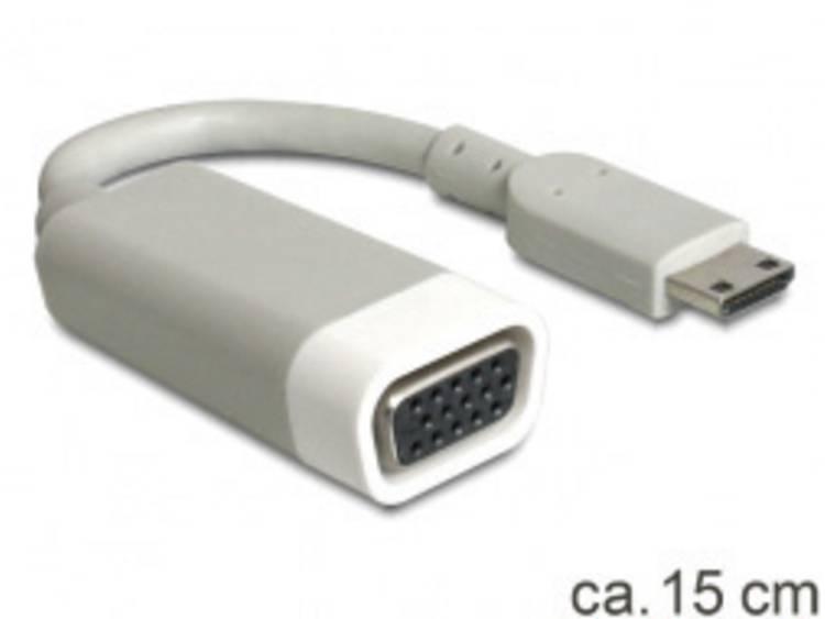 Delock HDMI VGA Adapter [1x HDMI stekker C mini 1x VGA bus] Wit