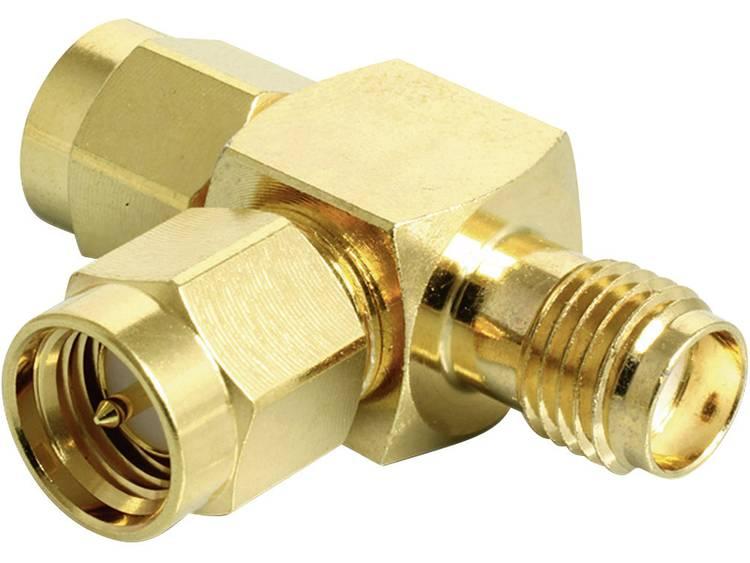 Delock WiFi-antenne Y-adapter [2x SMA-stekker 1x SMA-bus] 0 m Goud