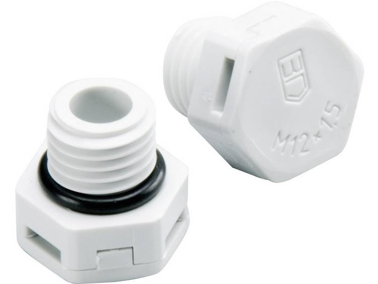 Drukcompensatie element M12 Polyamide Lichtgrijs (RAL 7035) Fibox MB 10894 1 stuks