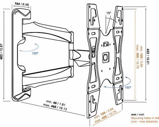 "TV-beugel Vogel´s Base 45 M 81,3 cm (32"") - 139,7 cm (55"") Kantelbaar en zwenkbaar"