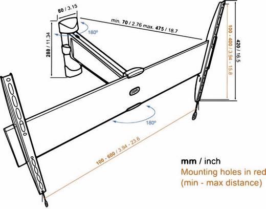 "TV-beugel Vogel´s Base 25 L 101,6 cm (40"") - 165,1 cm (65"") Zwenkbaar"