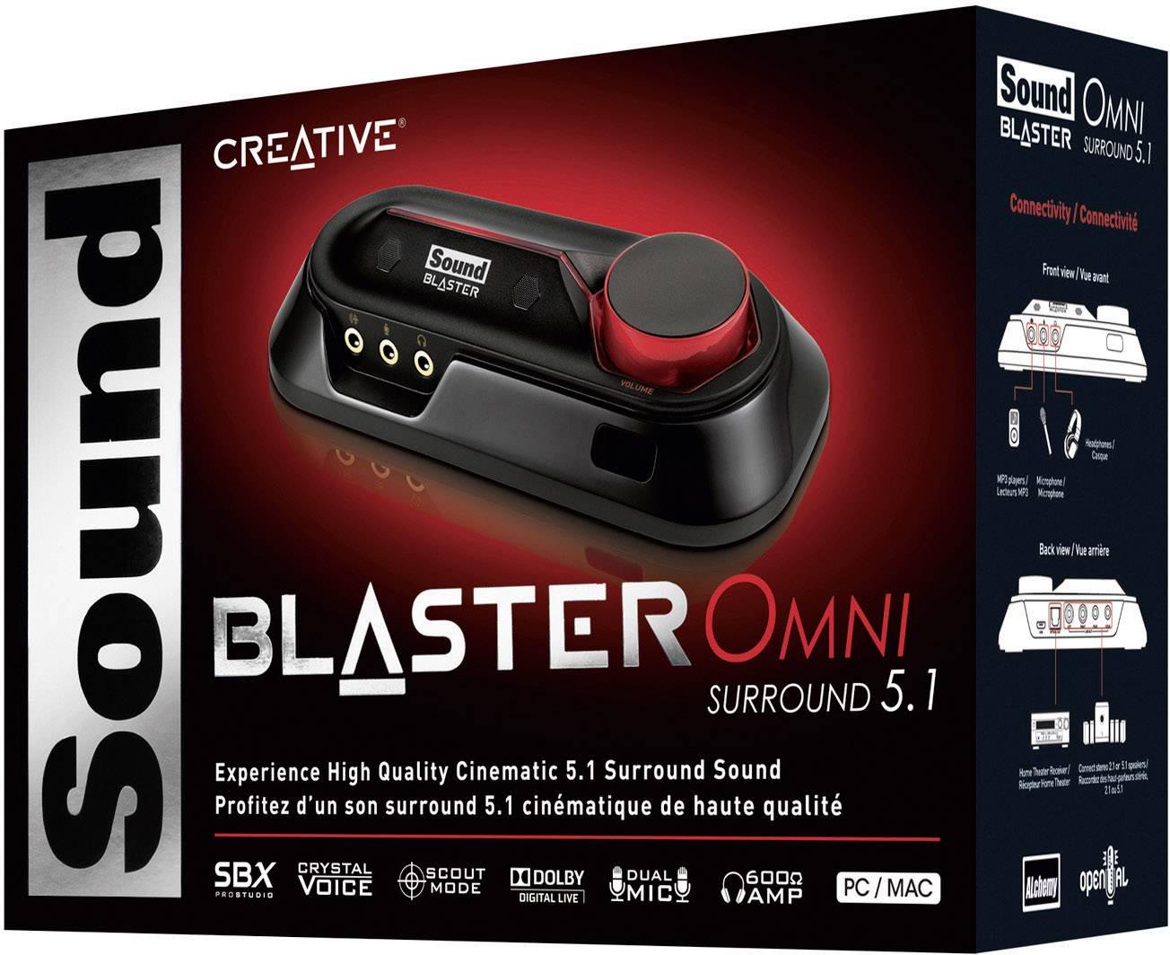 Wonderbaarlijk 5.1 Externe geluidskaart Sound Blaster Omni Surround 5.1 Digitale GY-64