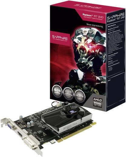 Videokaart Sapphire AMD Radeon R7 240 4 GB DDR3-RAM PCIe x16 DVI, VGA, HDMI